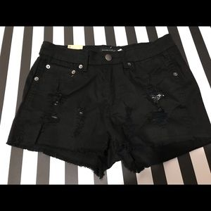 American Bazi Black Denim Shorts